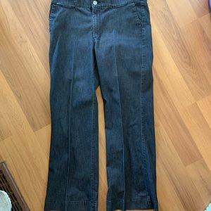 Lee no gap waistband wide leg jeans